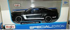 2012 Ford Mustang 302 Boss Die-cast Car 1:24 by Maisto 7.5 inch Matte Black