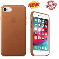 Genuine / OEM Apple Slim Leather Case For iPhone 7 / 8 SADDLE BROWN MQH72ZM/A