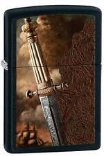 Zippo 28305 sword of war black matte RARE & DISCONTINUED Lighter