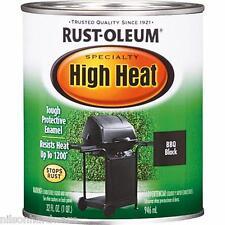 2 Qt Black Satin RustOleum High Heat 1200 F Enamel Paint 7778-502