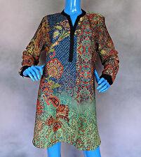 Soft Surroundings Silky Chiffon Agra Tunic Long Blouse L 12 14 16 Slimming Top