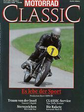 Motorrad Classic 9-11/88 1988 Adler BSA A7 Gold Star Kawasaki Mach III MV Agusta