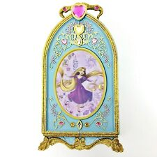 Disney Rapunzel Tangled Blue & Gold Glitter Gems Jewelry Box Wardrobe Chest Toy