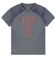 Nike Boys Graphic Tee Shirt Short Sleeves Cool Gray Polyester NWT Size 6