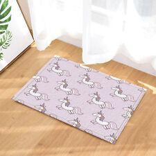 Door Mat Bathroom Rug Bedtoom Carpet Bath Mats Rug Non-Slip Beautiful Unicorn