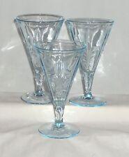 "3 Fostoria BAROQUE BLUE *6 3/4"" WATER GOBLETS*"