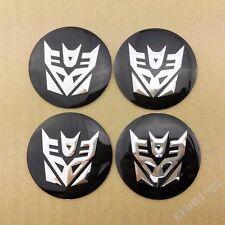 4pcs Transformers Decepticon Wheel Center Hub Cap Car Badge Emblem Decal Sticker