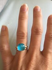 Dove's Turquoise And Gold Ring NEW Size 5.5