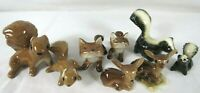 Vintage Hagen Renaker 8 Miniature Squirrels Foxes Skunks Fawns Ceramic
