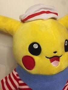 Pikachu Little Sailor Outfit Medium Plush Pokemon Approx 33 Cm Tall