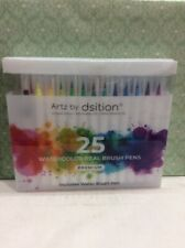 Artz by Dsition 25 Watercolor Real Brush Pens Premium