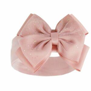 Headband Baby Girl Sparkle Glitter Bow Spanish Style Pink White Red Rosegold UK