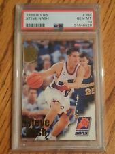 1996 Nba Hoops Steve Nash Rc Rookie Card #304 Psa 10 Gem Mint Phoenix Suns