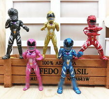 5 pcs Power Rangers Action Figure Jason Billy Trini Kids Toy Cake topper 3''