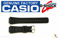 CASIO G-Shock DW-5600C Original Black Rubber Watch BAND Strap Silver Buckle