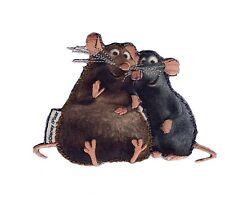RATATOUILLE - Emile & Remy - Aufnäher Aufbügler Patch - Neu #9084 - Pixar Ratten