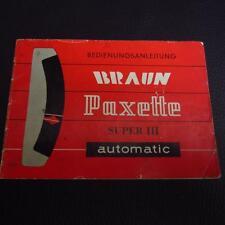Braun Paxette Super III automatic Anleitung / Bedienungsanleitung  (Nr.1)