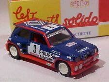 Renault Maxi 5 Turbo Rally Philips DECORATED 1985 Solido 1/43 Diecast Mint Boxed