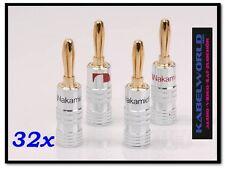 32 x Nakamichi HIGH EMBOUT FICHE BANANE FICHE (32 PIÈCES ROUGE ET NOIR