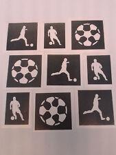 30 x thème football pochoirs de tatouage les tatouages paillettes