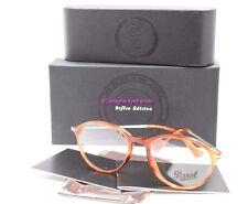PERSOL PO 3125V 96 Terra di Siena Round Full Frame 51mm RX Eyeglasses NWT AUTH