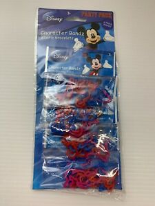 Disney Mickey Mouse Character Bandz, Elastic Bracelet Party Pack  **NIP **