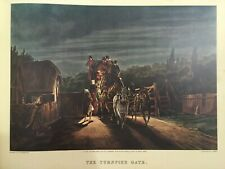 """Vintage """"The Turnpike Gate, after C. Cooper Henderson, 1842"""" Print"""