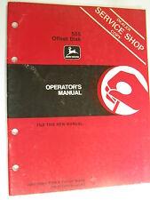 John Deere 555 Offset Disk A47556 H3 Operators Manual