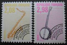 France SAXOPHONE et BANJO Préoblitéré N°215 et 217 neuf **