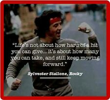 Rocky Balboa Sylvester Stallone Quote  Refrigerator / Tool Box Magnet