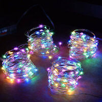 LED Christmas Battery Copper Wire String Party Xmas Tree Decor Fairy Lights