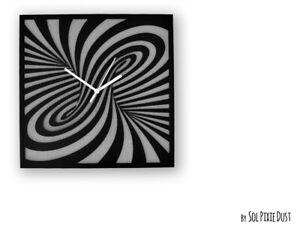Optical Illusion Concrete - Square - Modern Wall Clock