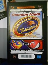 Atlanta Thrashers Inaugural Game Ticket VIP oversize ticket