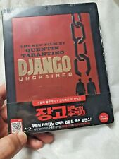 Django Unchained Blu-ray Korea Quarter-Slip Embossed OOP Steelbook New & Sealed+