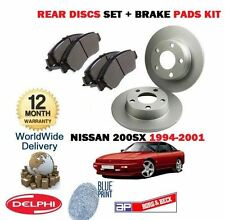 FOR NISSAN 200SX 2.0 TURBO 1994-2001 NEW REAR BRAKE DISCS SET + DISC PADS KIT
