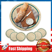 """13"""" Woven Placemat Natural Corn Skin Rattan Heat-Resistant,Anti-Skid Placemats"""