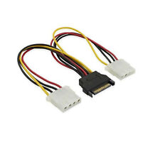 20cm Dual IDE Molex Female to SATA Power Y splitter Cable For Hard Drive HDD DVD