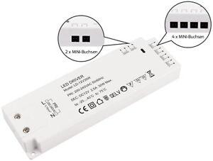 LED 2in1 Transformer 30W 230V >12V - 6 Mini-Amp-Buchsen - Trafo LED Suitable