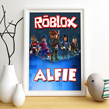 ROBLOX Personalised Poster A4 Print Wall Art Custom Name ✔ Fast Delivery ✔
