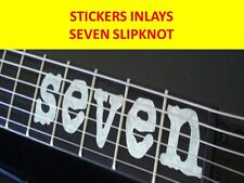 STICKER INLAY SEVEN SILVER MICK THOMSON SLIPKNOT VISIT OUR STORE WITH MORE MODEL