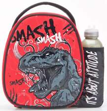 Smash Extinct Lunch Bag/Box and 500ml Bottle Set | Dinosaur Lunchbox