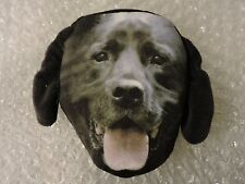 Coin Purse, Dog Face 100% Polyester soft w/Polyurethane foam Inner, BLACK LAB
