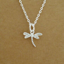 Solid 925 Sterling Silver Detailed Dragonfly Necklace Bracelet Earring Pendant
