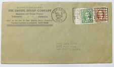 The Empire Stamp Company Toronto 1937 Cancel on US Cover MiF Canada Brief (A2856