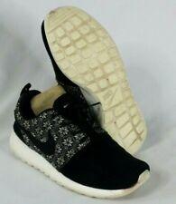 "Nike Roshe One 'Yeti"" Men's Running Shoes 807440-001 Size 8.5  Black Suede White"