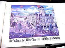 POSTER PAVILION AT THE OLD POST OFFICE ATRIUM GRAND OPENING 1992 WASHINGTON DC