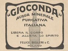 Z1198 Acqua Minerale Purgativa GIOCONDA - Pubblicità d'epoca - 1932 Old advert