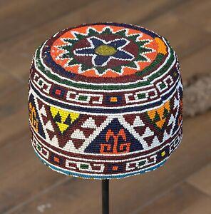 "4.13"" x 21.85"" Hat Beaded Hat Afghan VINTAGE FAST Shipment UPS 11881"