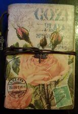 Sublime album photo motif fleur style ancien avec des pages utiles à la fin