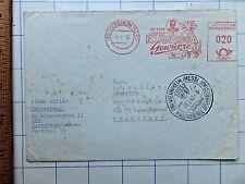 1962 German Cover Postmark / Cancellation on cover - Nimm Nubassa Gewurze.